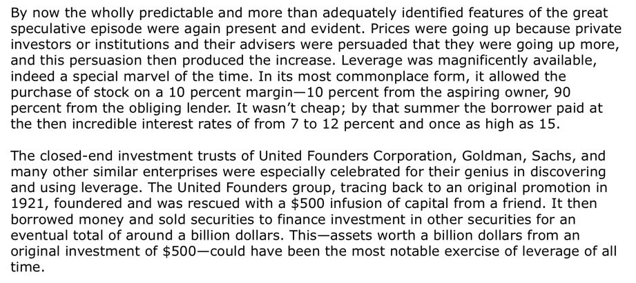 Leverage In 1929 From A Short History Of Financial Euphoria