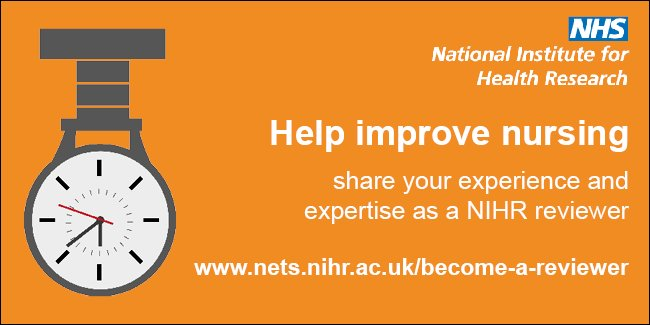 We need #nurses to #peerreview #NIHR research https://t.co/BRmbP8MI6X #RCNICC16 https://t.co/PfZOAN6Sbk
