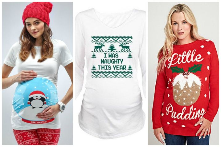 0419254892b07 Christmas: Pregnant and wants a maternity Christmas jumper? Take a ...