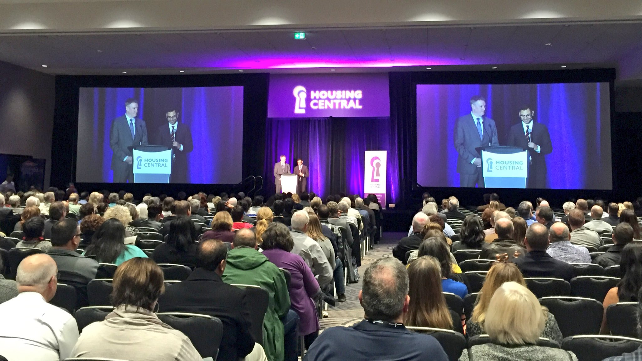 ED Thom Armstrong & @BCNPHA CEO @kishoneroy on a shared mission for safe, secure #affordablehousing for all. #HousingCentral https://t.co/54lSr3B9m7