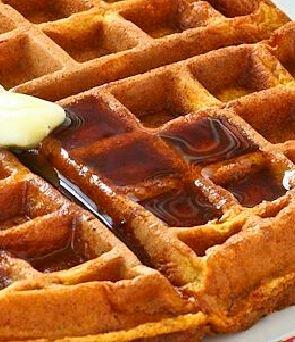 Ginger-Pumpkin Waffles