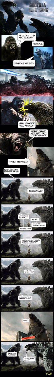 Godzilla vs King Kong Mothra meme by Paul Gale Network