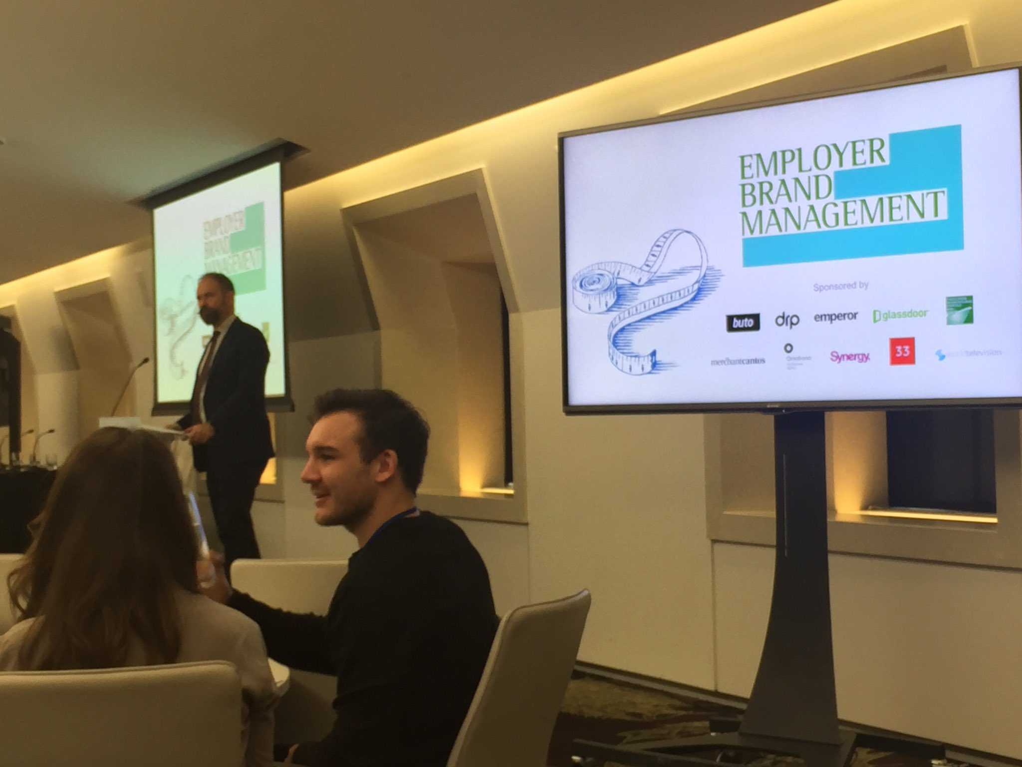 Just about to start at the  @_EmployerBrand Management Conference in London #EBMconf #Glassdoor #EmployerBranding https://t.co/BwcGaFaNLq