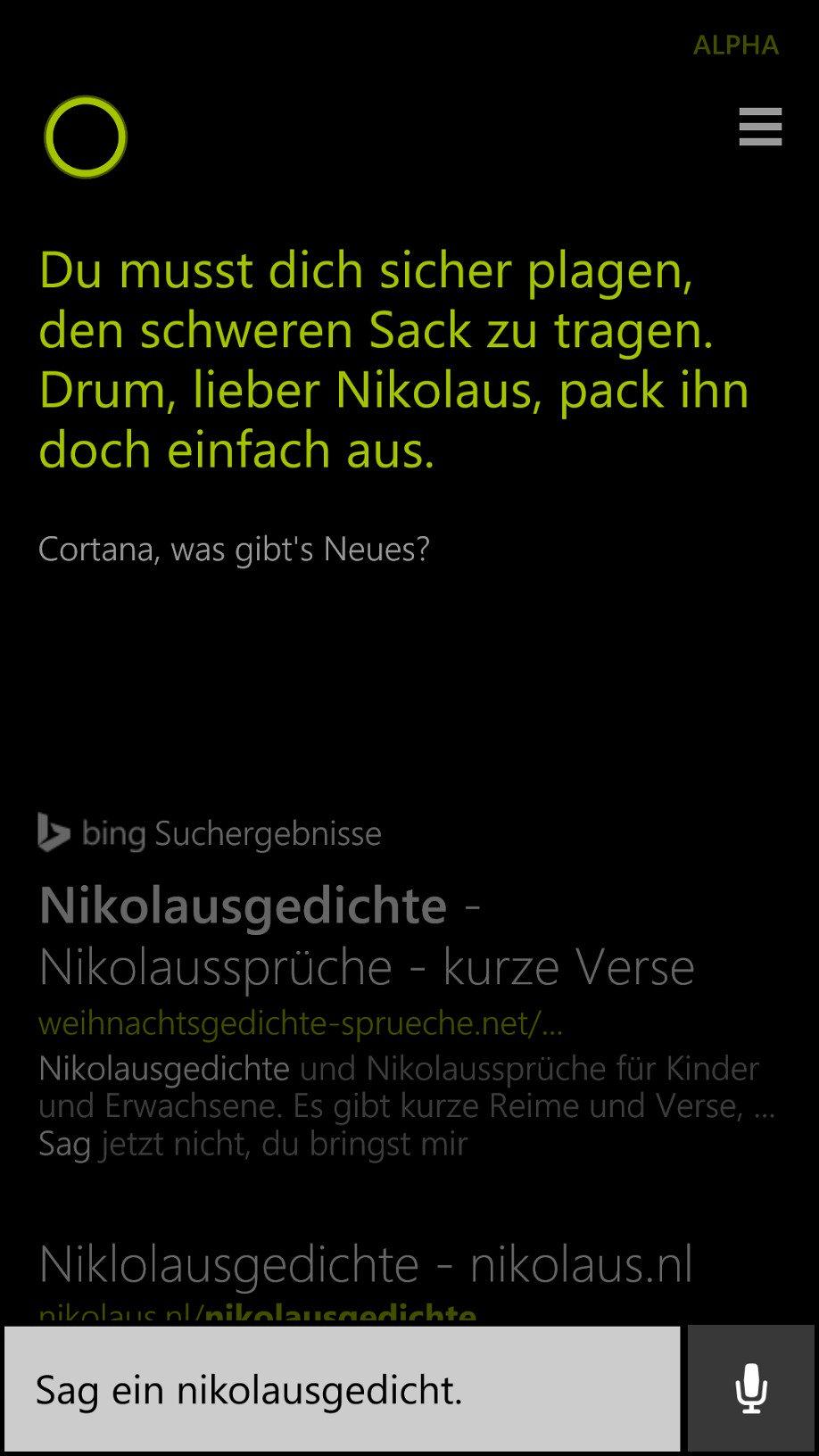 Nikolaus Gedicht Kurz