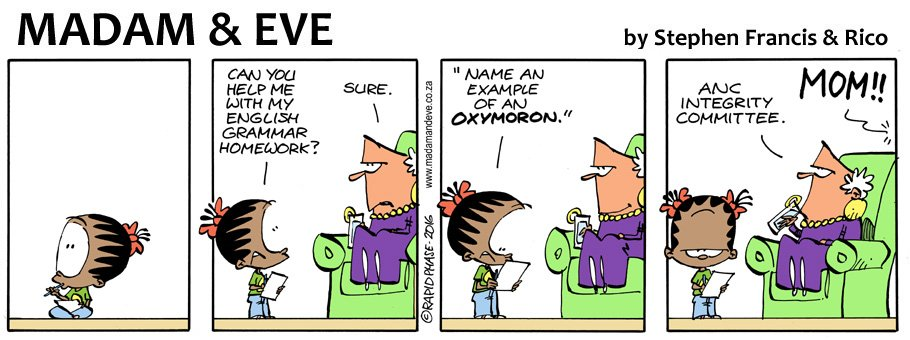 Madam Eve On Twitter Thandi Needs An Example Of An Oxymoron For