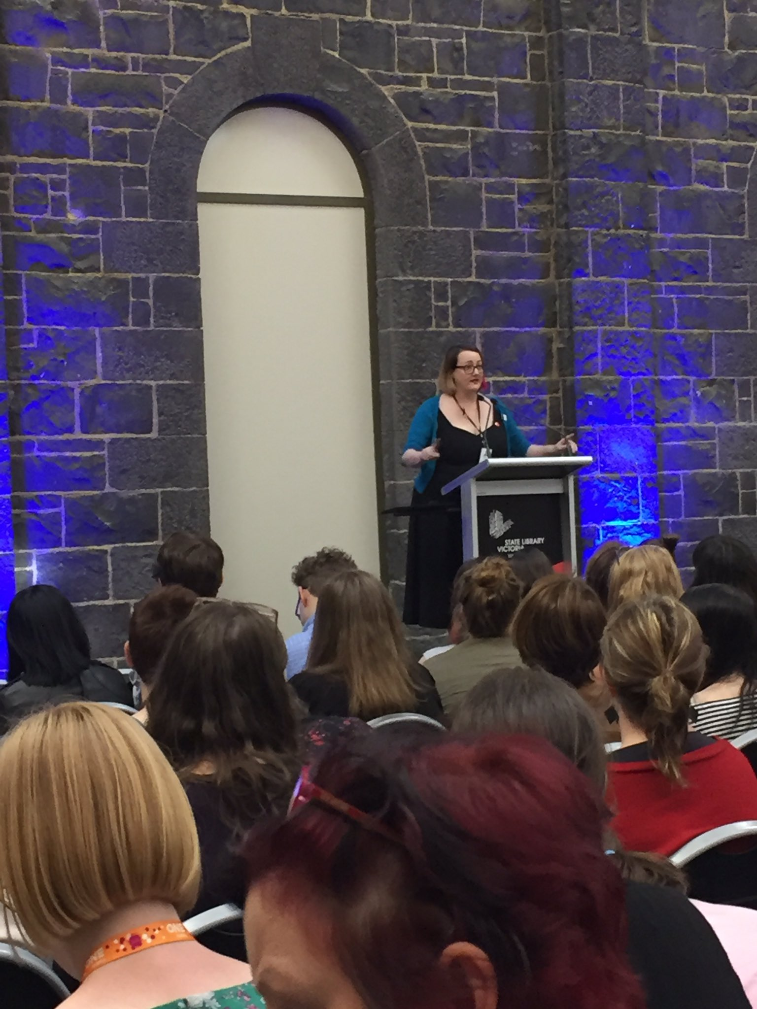 Getting ready to hear about next year's exciting new YA releases at the @CentreYouthLit's #YAshowcase https://t.co/KswtrbzPEx