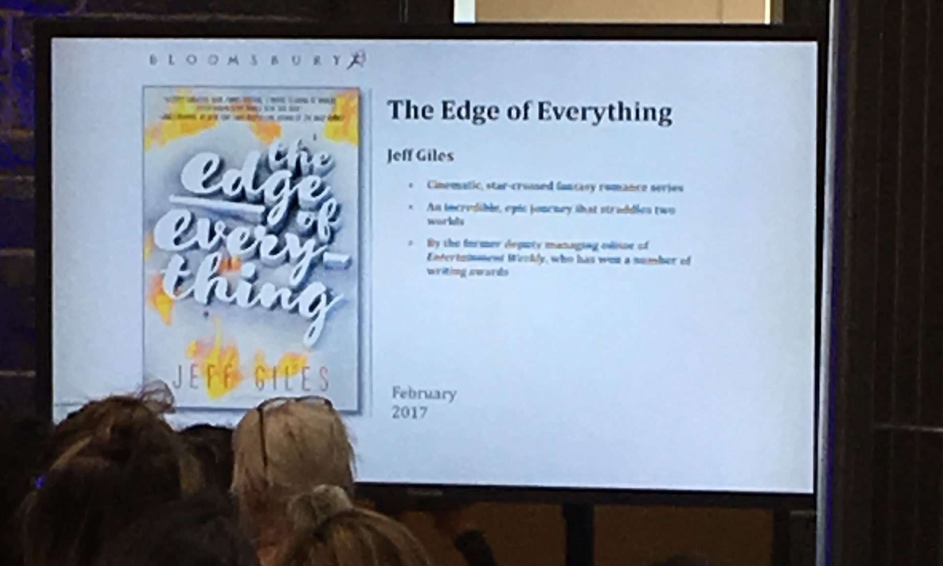 Next: February, The Edge of Everything by Jeff Giles, YA Fantasy series. @BloomsburySyd #YAshowcase https://t.co/VqFVddrhiJ