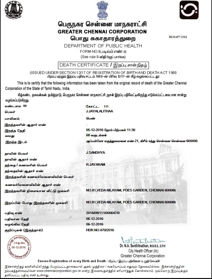 Vistoso Chennai Corporation Birth Certificate Registration Imágenes ...