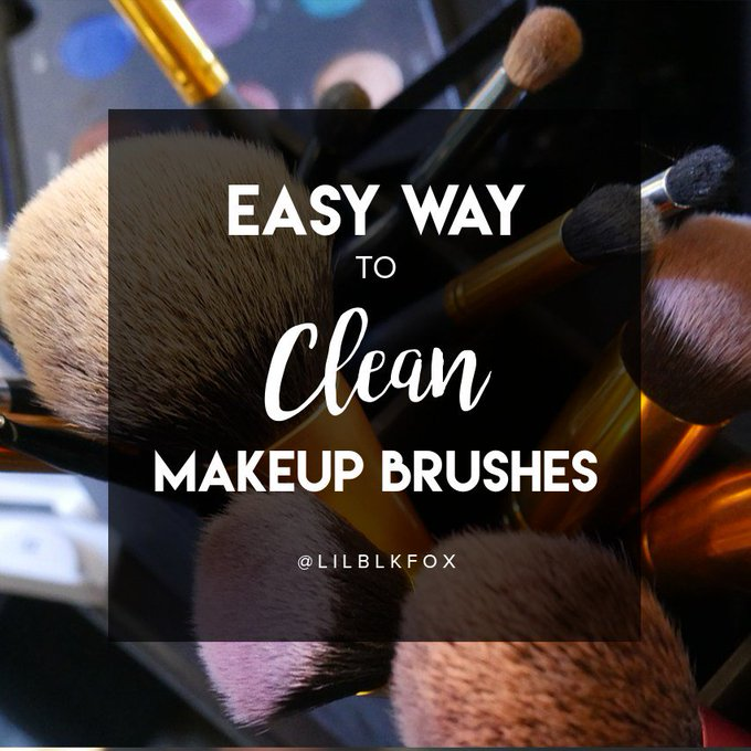 Easy Way To Clean Makeup Brushes