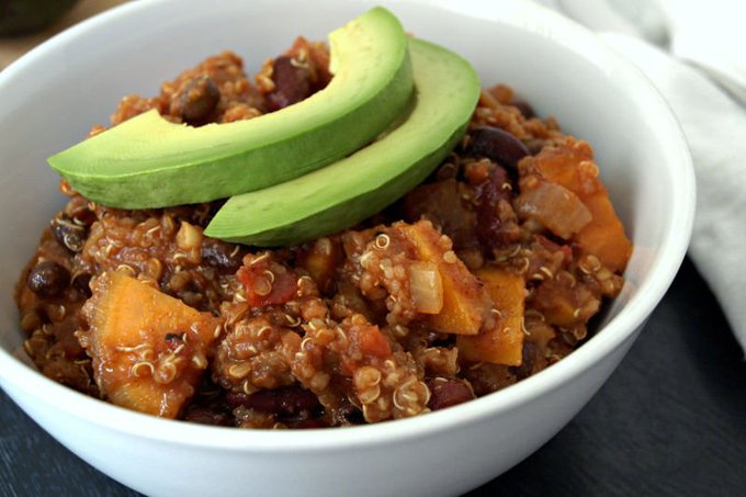 Sweet Potato and Quinoa Chili [Vegan, Gluten-Free]