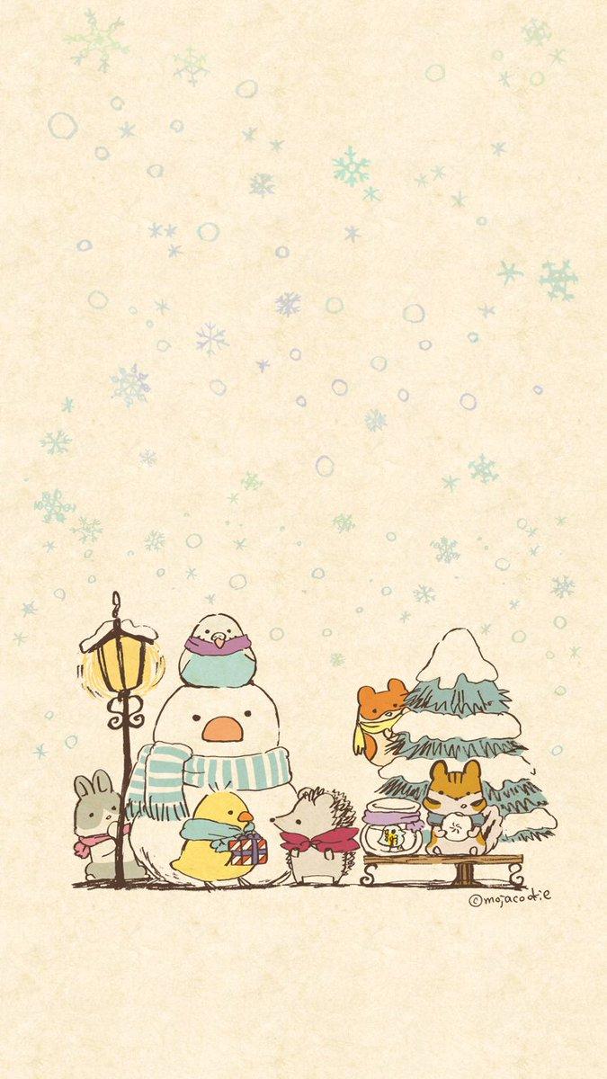 """もじゃクッキー on twitter: """"冬っぽい待ち受け画像作りました。微調整"""
