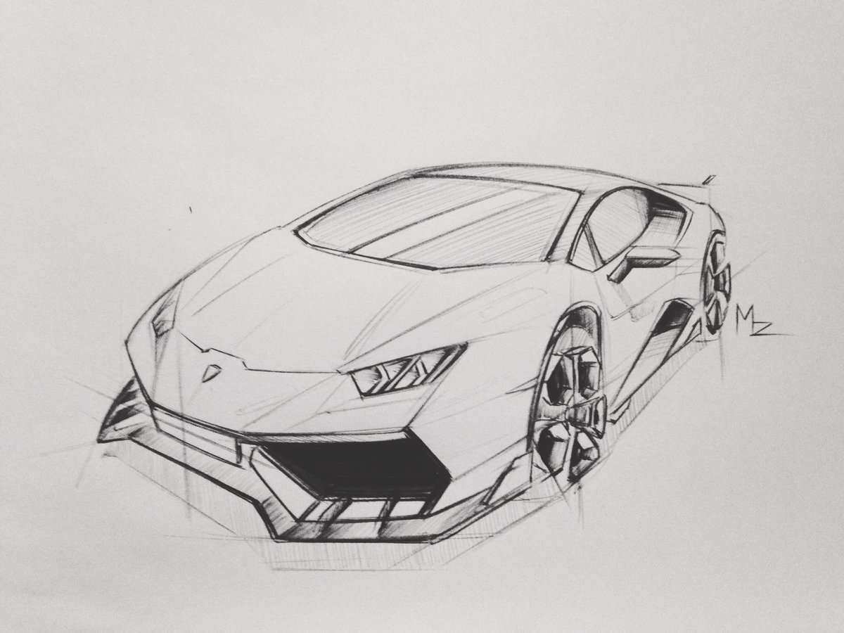 Guillaume Mazerolle On Twitter Huracan Lamborghini Sketch