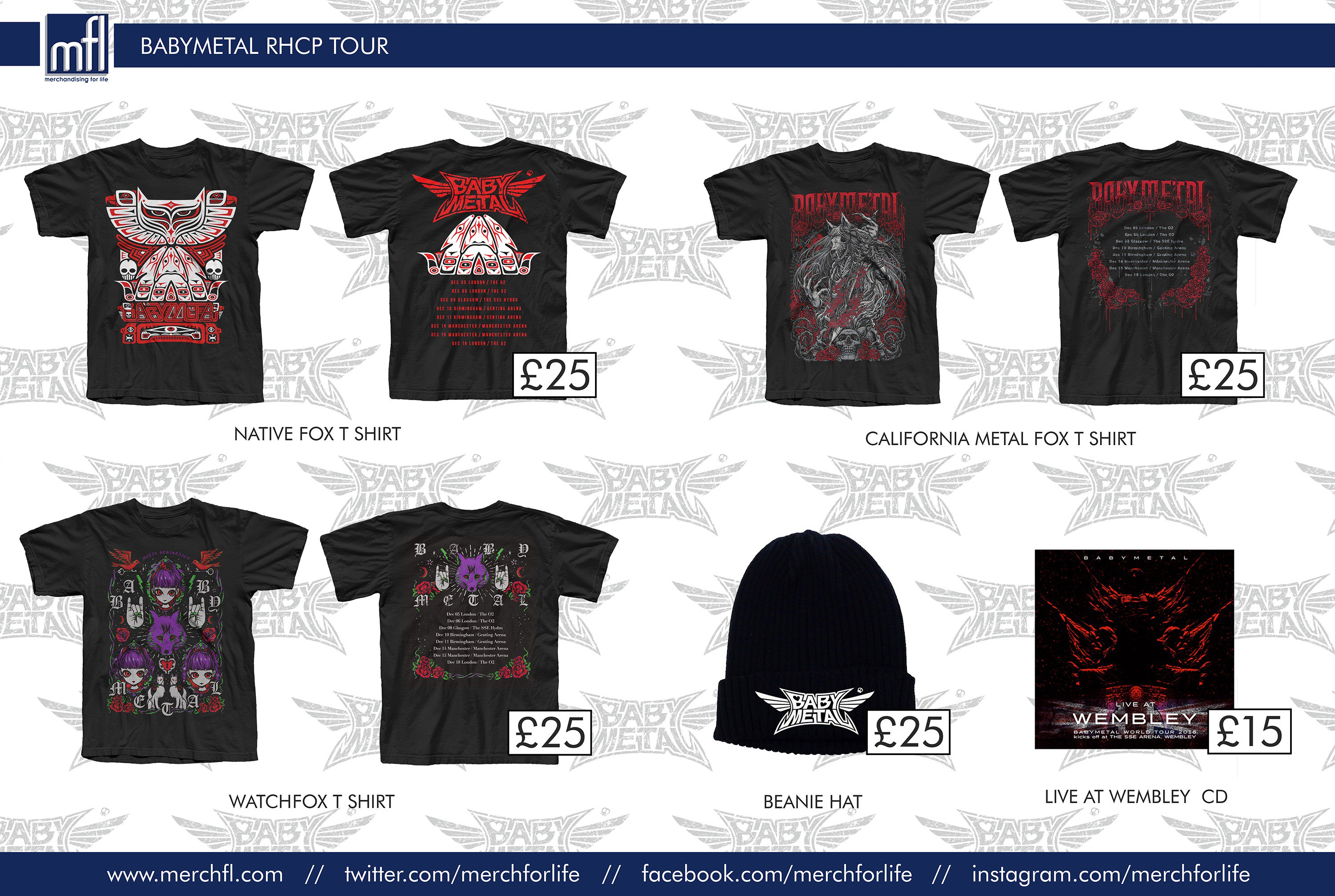 f0aee9dbb Merch for BABYMETAL and RHCP gigs : BABYMETAL