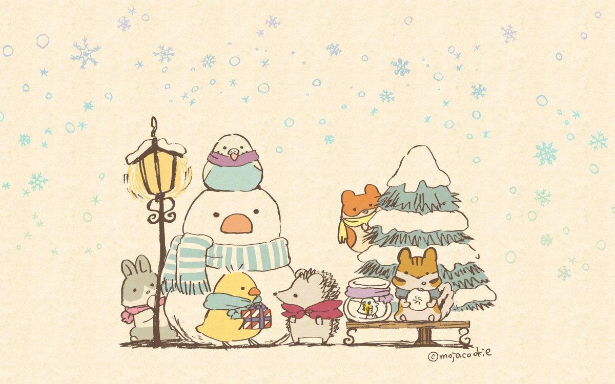 もじゃクッキー On Twitter スマホ待ち受けに引き続き 冬っぽいpc
