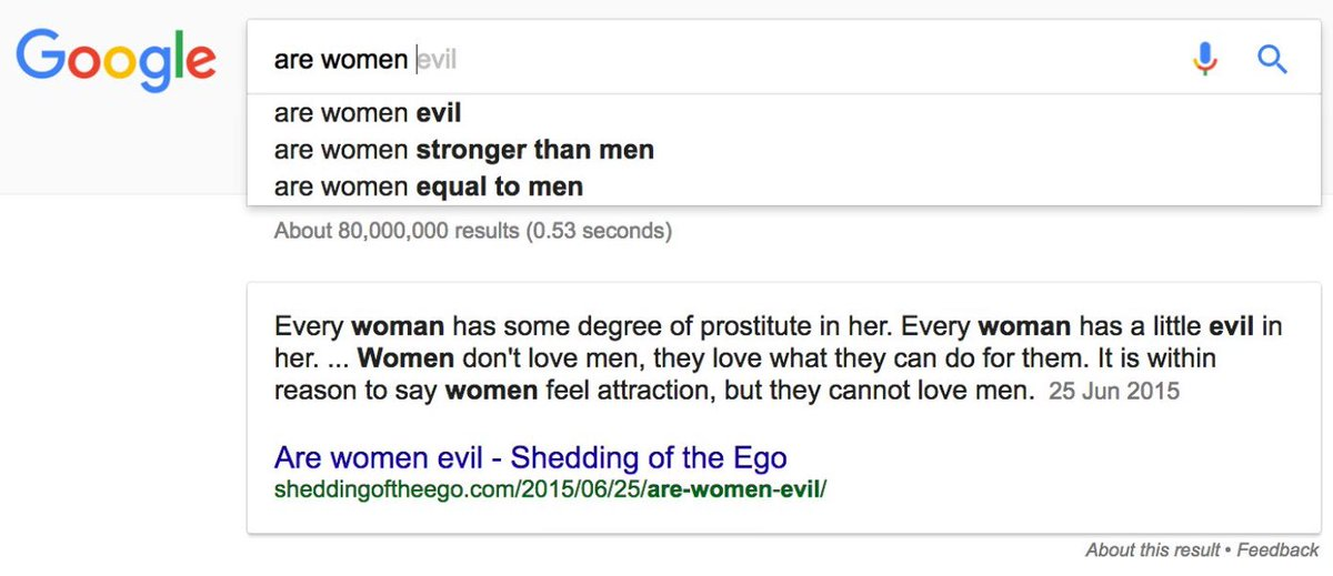 why are women evil