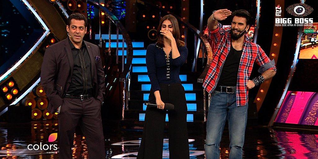 बिग बॉस 10 एपिसोड रिव्यू : शो में आये रणवीर सिंह और वाणी कपूर ने अपने नाम किया पूरा एपिसोड !