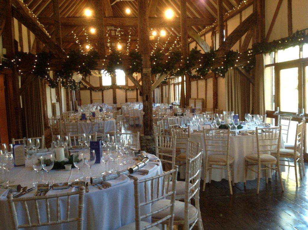 Snapshot of festivities at yesterday's stylish #Christmas #wedding  reception @LoseleyPark @Loseleyevents