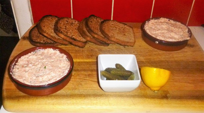 Zingy Smoked Salmon Pate on Whole Wheat Toast Recipe