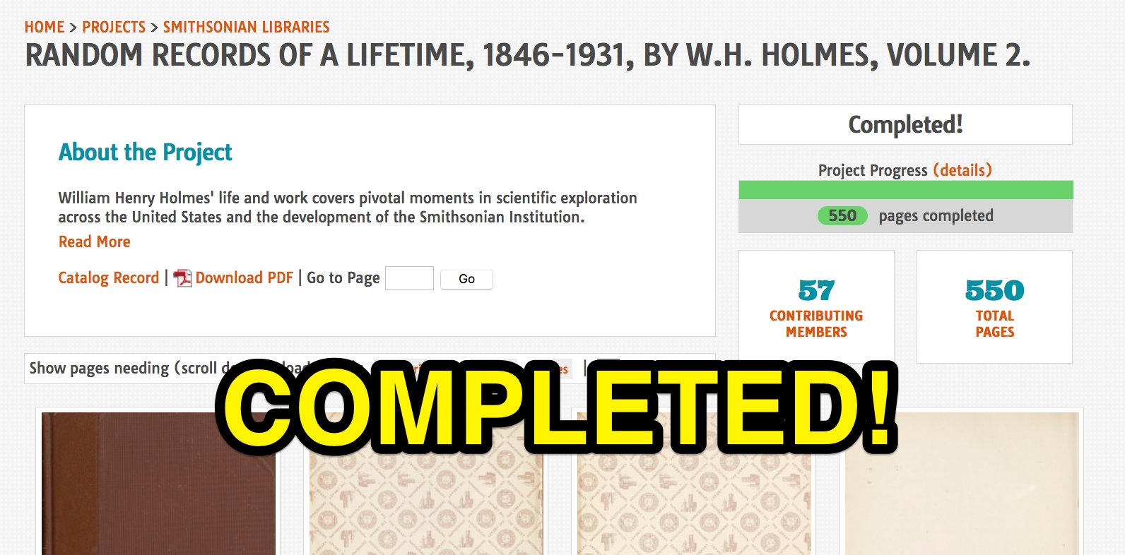 And Volume 2 of #ManyHatsofHolmes is completed! Hooray for those 57 #volunpeers @SILibraries @SmithsonianArch @BioDivLibrary @FieldBookProj https://t.co/T9jBDV3bde
