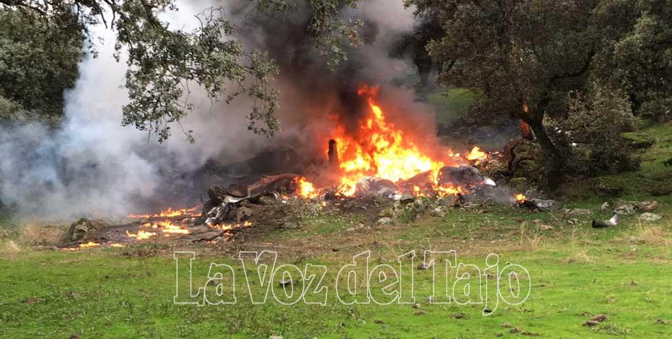 Mueren cuatro personas en un accidente de avioneta en Toledo