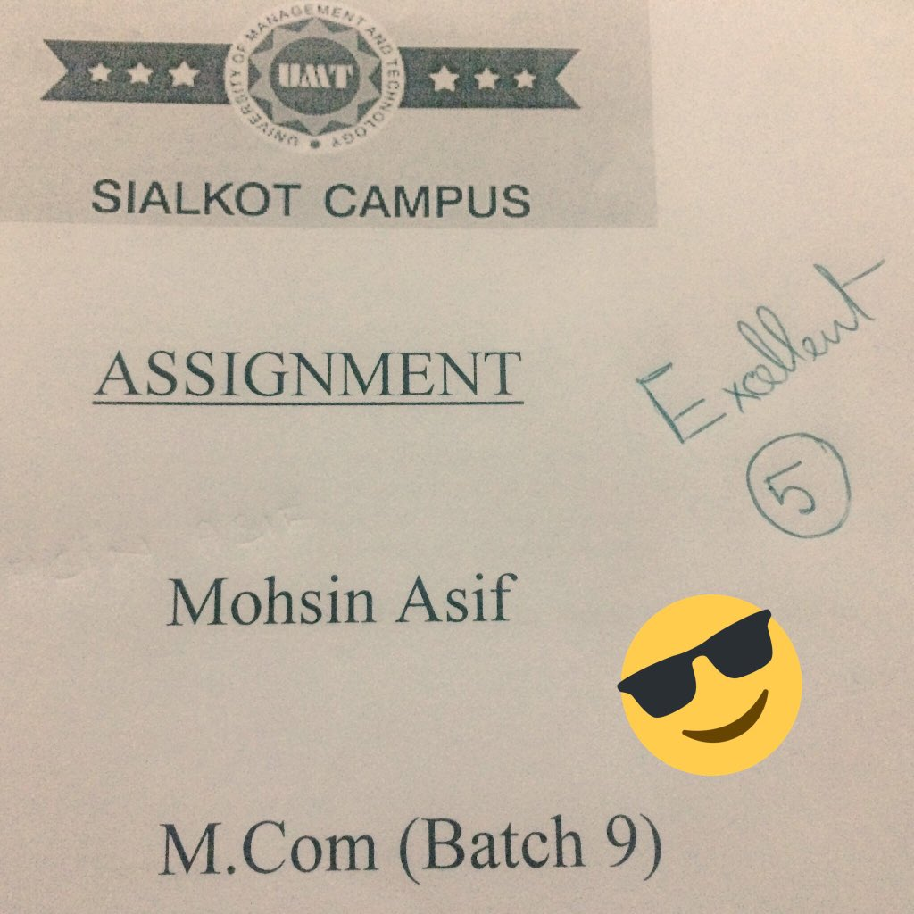 That moment when you get unexpected 5/5 😍😊 #assignment #umtskt #sialkotdiaries