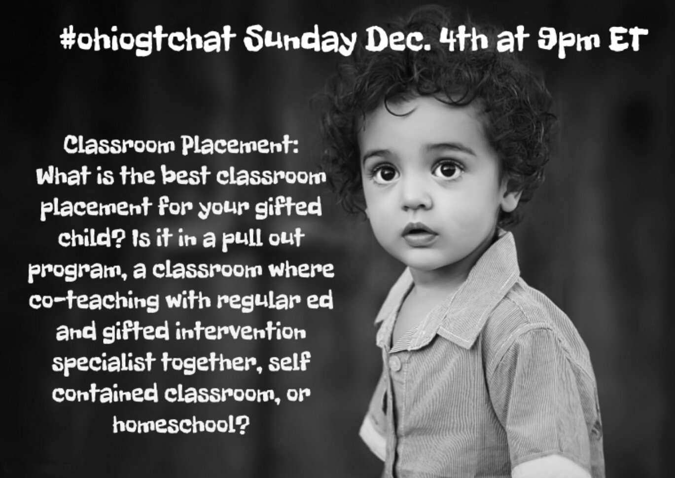 Thumbnail for #ohiogtchat: Dec. 4: Classroom Placement