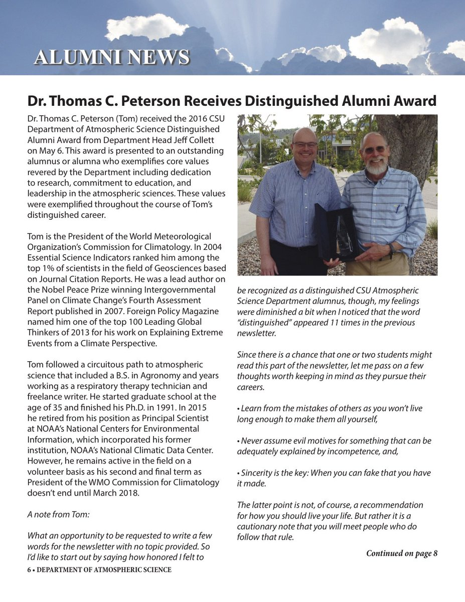 thomas peterson tomcarlpeterson twitter my career advice to graduate students was just published in the colorado state university atmospheric science department s newsletter pic com