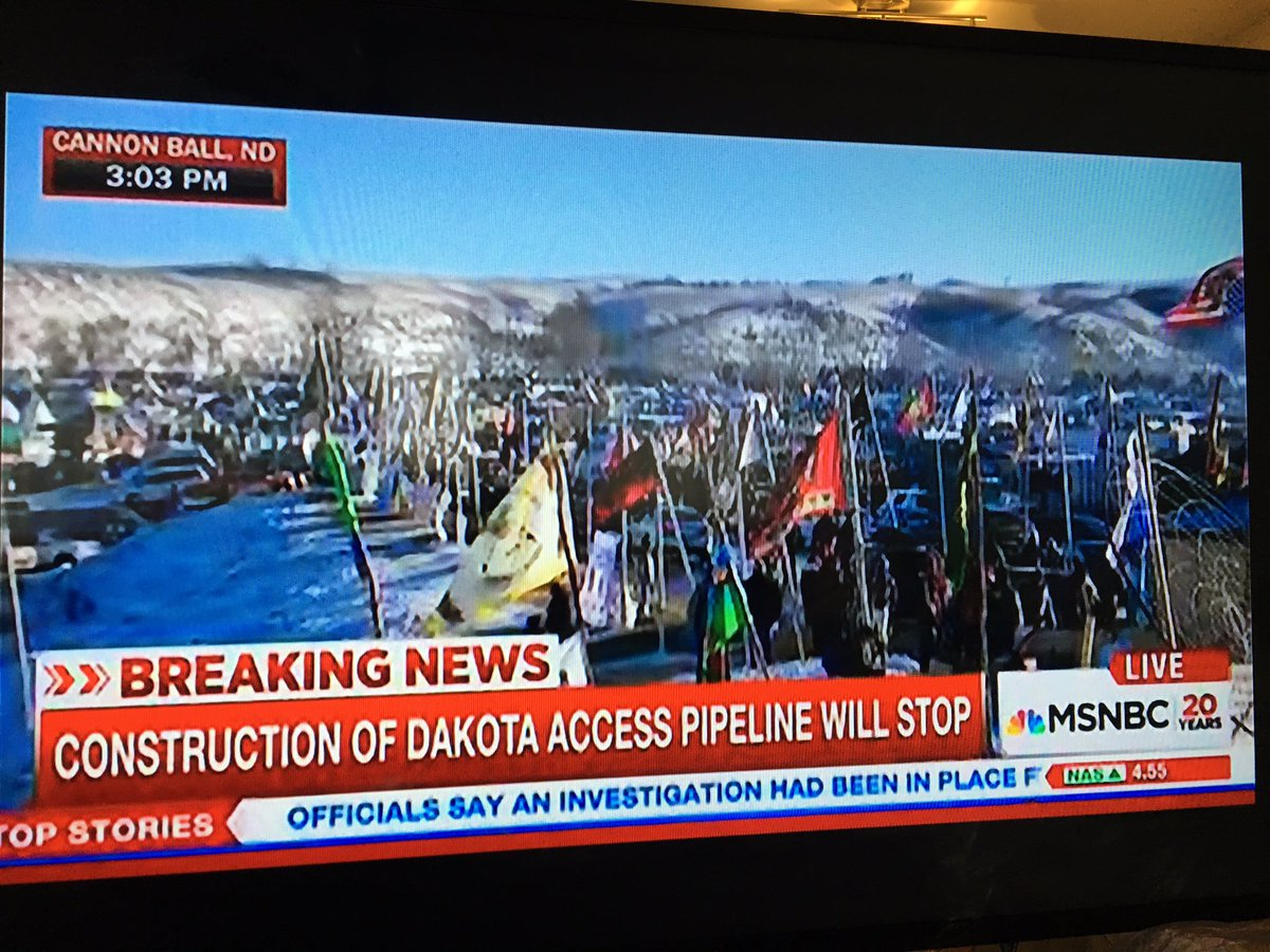 Right now on @MSNBC #StandingRock #DAPL https://t.co/rTJ9xSFD1X