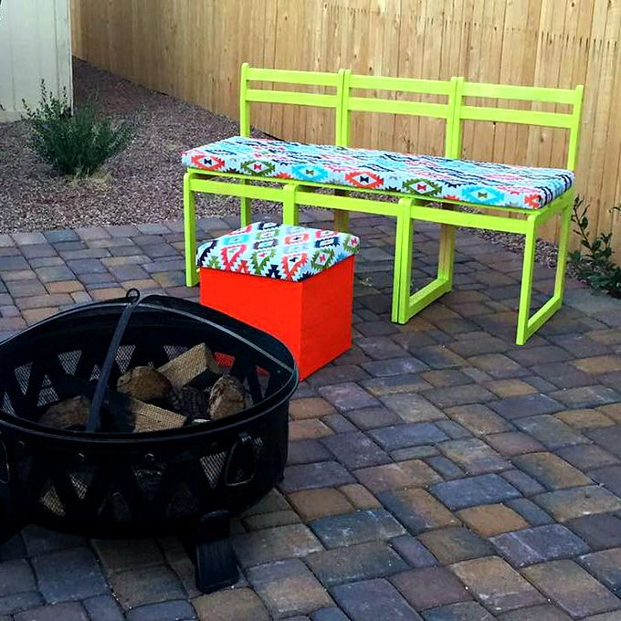 DIY Bench: From Ugly Chairs to Outdoor Bench