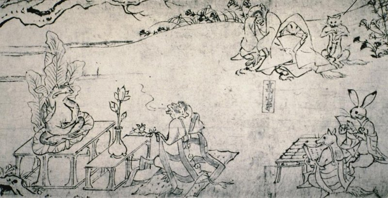 monkey priest prays to frog buddha as other animal priests & fox ladies look on (951-1085) https://t.co/y76qnW9L1X