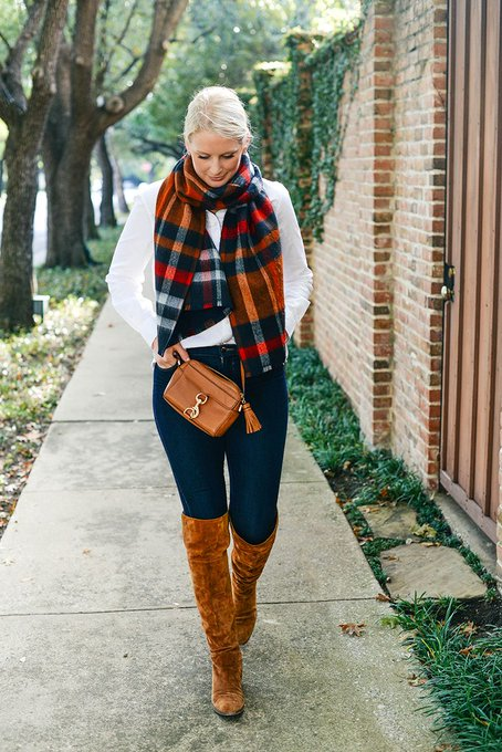 best plaid + check scarves under $100
