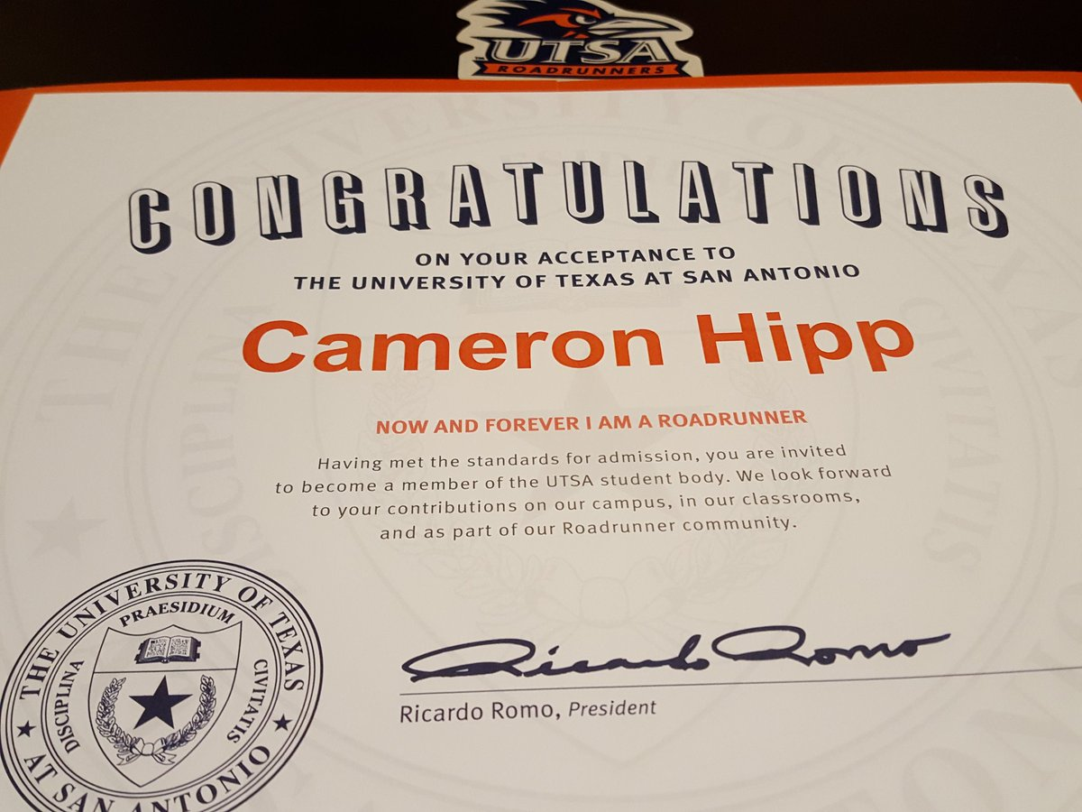 Karen hipp on twitter cameron got his official letter and karen hipp on twitter cameron got his official letter and certificate of acceptance utsa yelopaper Choice Image