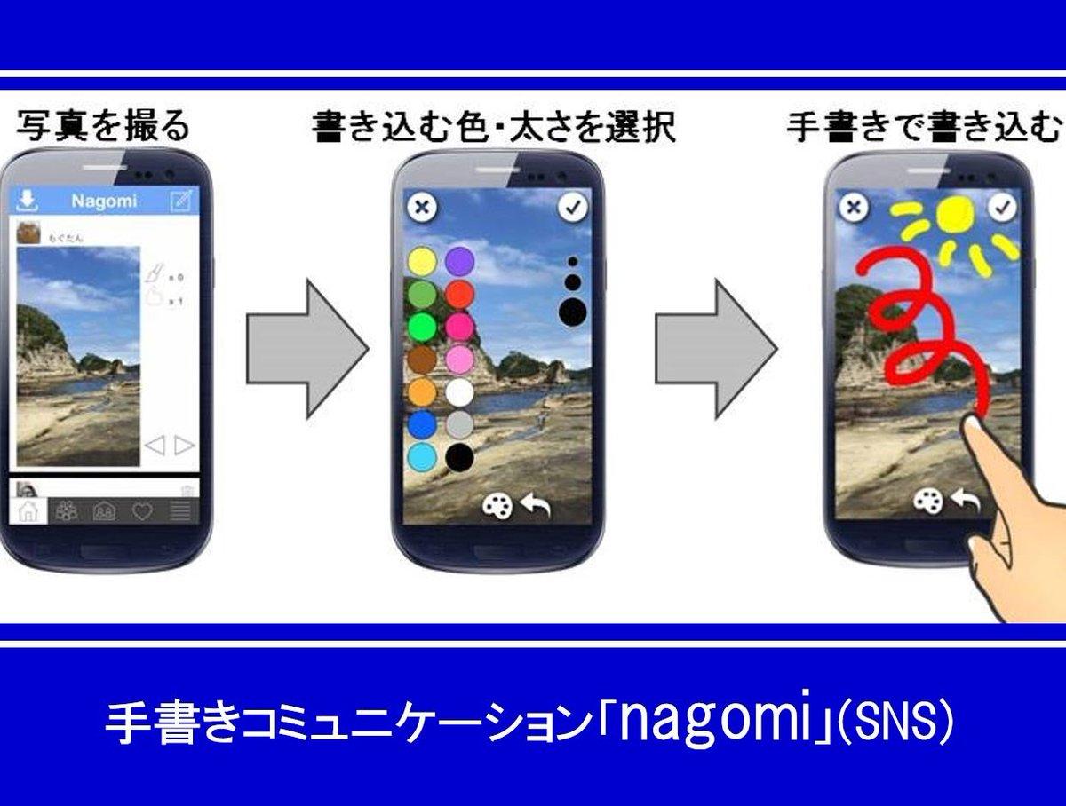 手書きのコミュニケーション「nagomi」(SNS)開発・サービス開始へ向けて、クラウドファンディングがスタート https://t.co/AqiENzIWrI