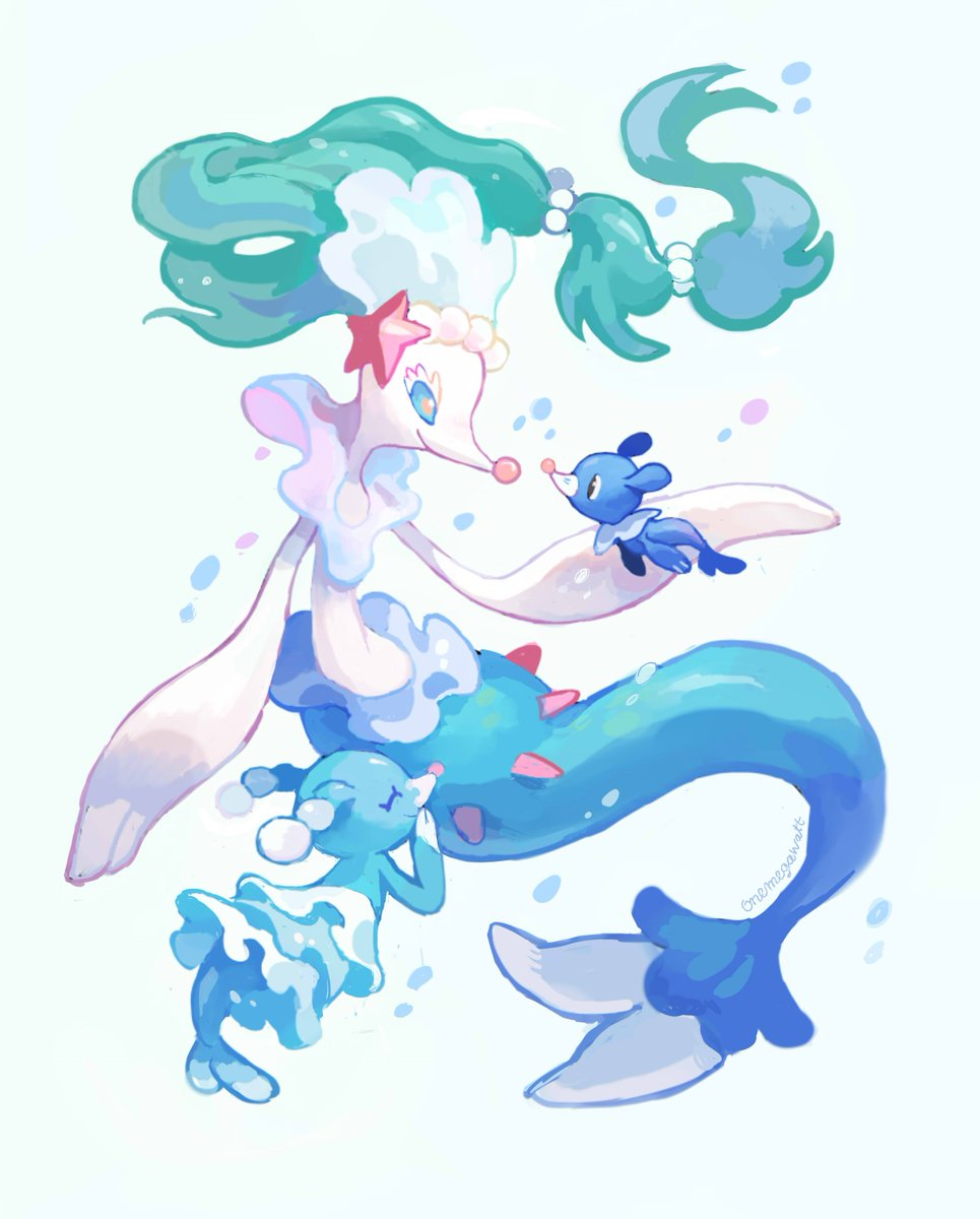 Very Pretty Popplio Brionne And Primarina By Onemegawatt Pokemonart