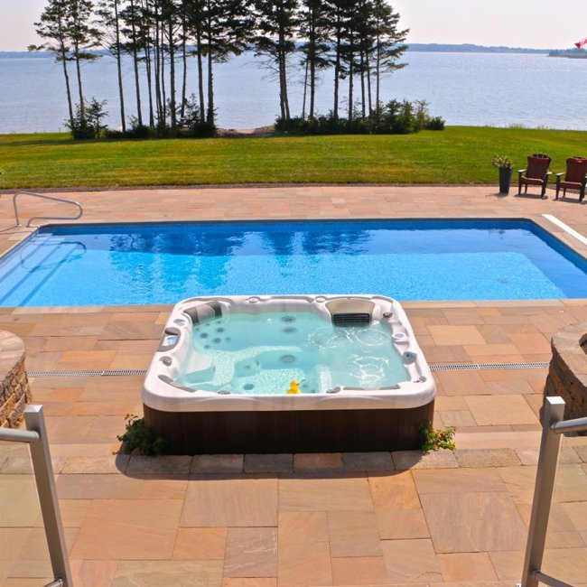 La Z Boy Hot Tubs On Twitter An Amazing Spa Fox Pool Backyard Dream Created By Central And Pei Canada Https T Co Oranpcvopz