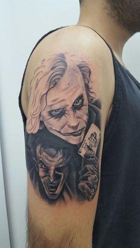 Toni Serrano Montanatattoo On Twitter En Proceso Joker En Blanco