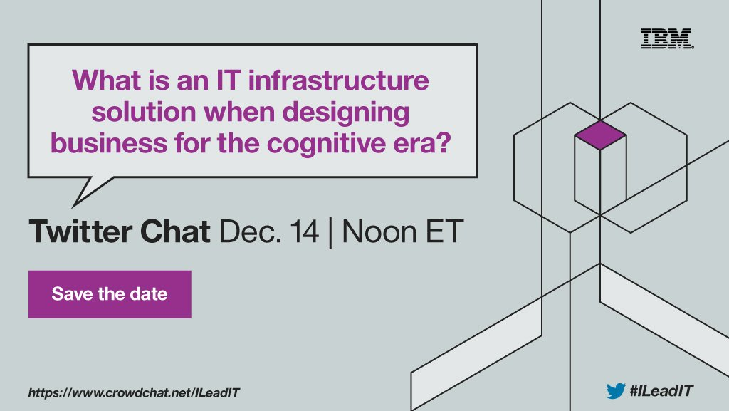Join us for one last #ILeadIT Twitter chat before we close the year. Click to register: https://t.co/xKQBiGYESK https://t.co/0fo2sXteqW