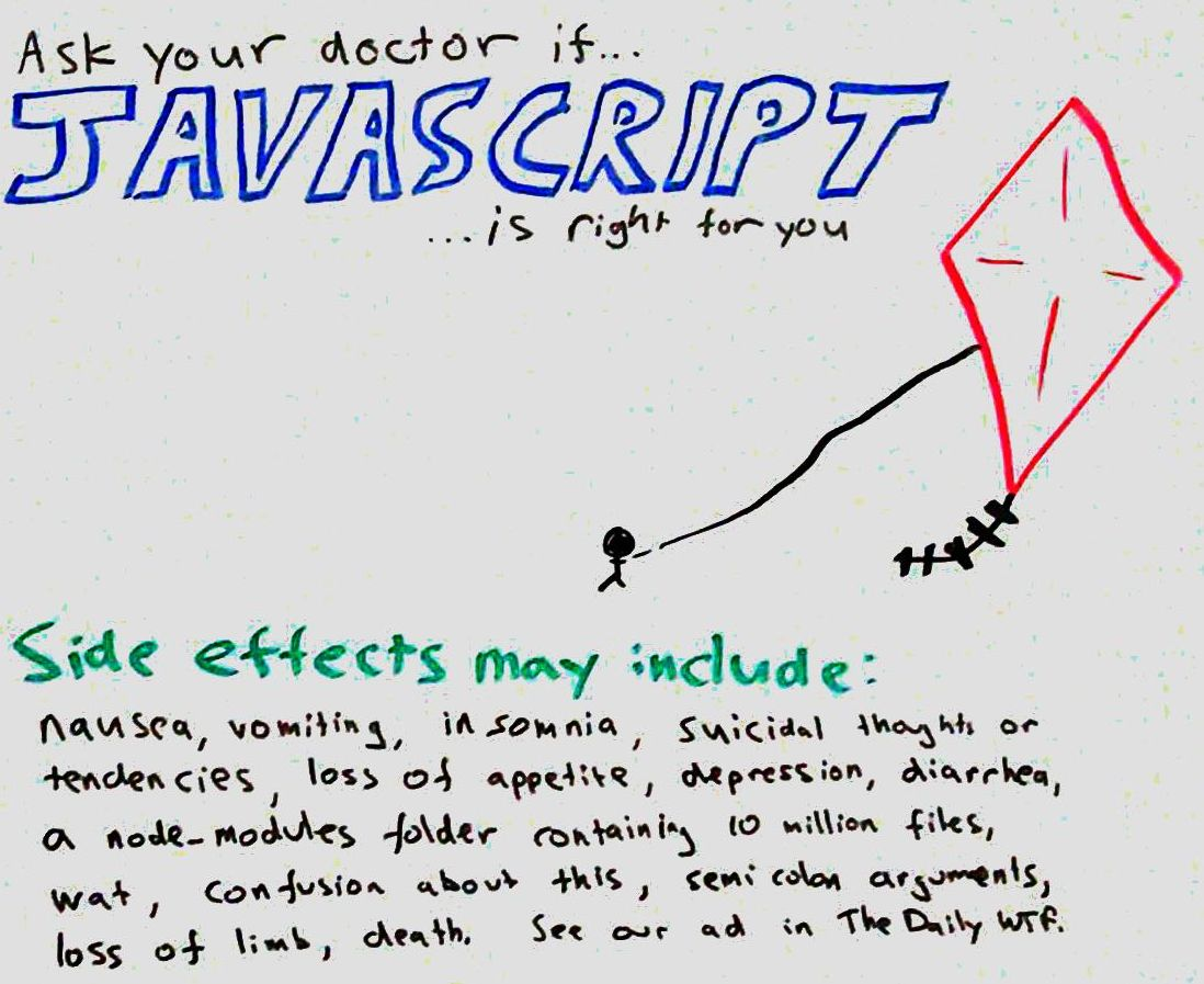This came to me in a dream, inspired by @reverentgeek I'm sure. #JavaScript https://t.co/pWHQxWT3Dm