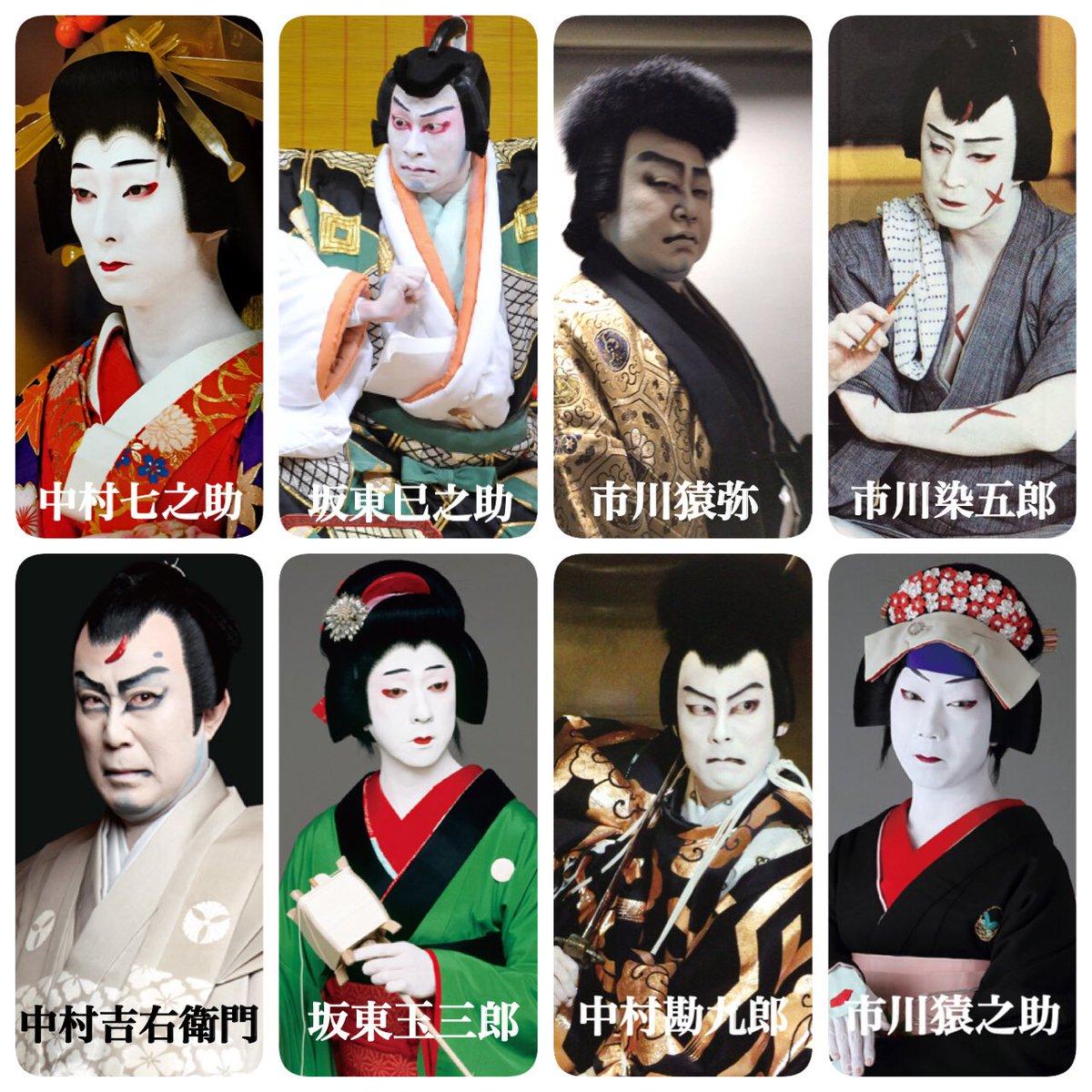 海外俳優のONとOFFのやつが面白かったので、歌舞伎俳優版も作りました