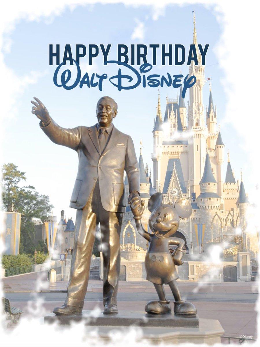To the man who started it all - Happy Birthday, #WaltDisney! https://t.co/AShFBSrtkE