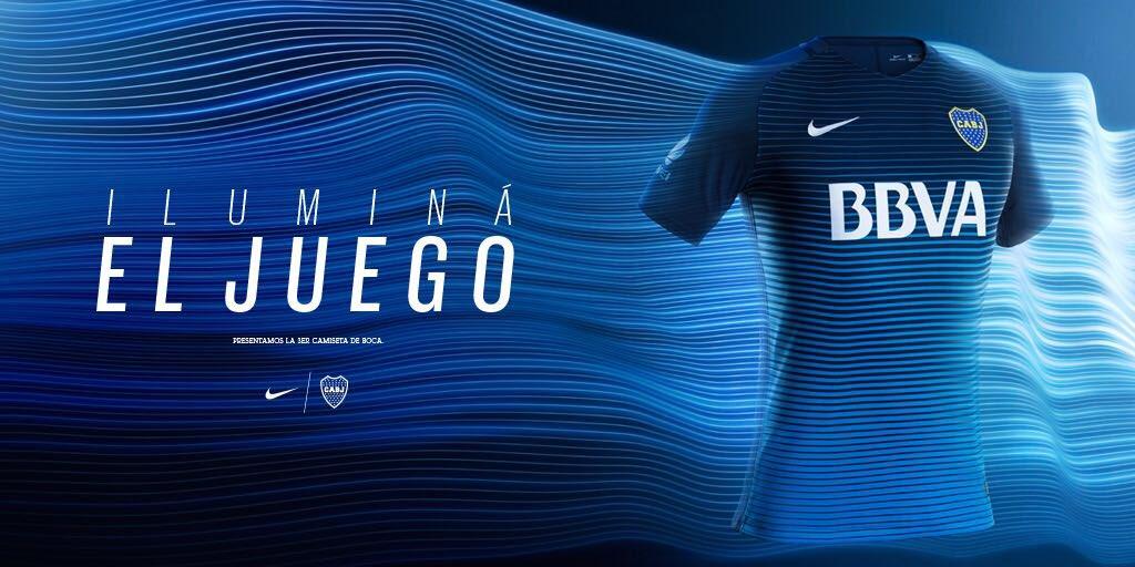 Iluminá el juego. Ya pueden ver la nueva camiseta de Boca en la Nike Fútbol App. https://t.co/RyXdowSFzV