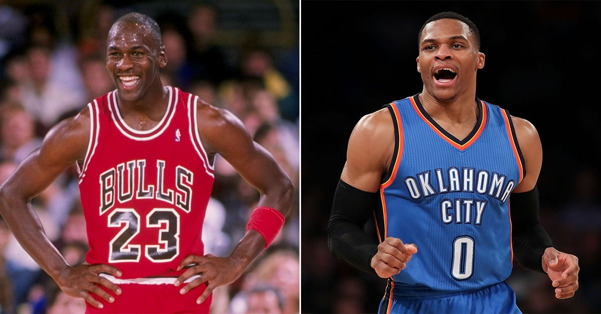 brand new 3e466 6f2b0 Russell Westbrook is the first player with five straight triple-doubles  since Michael Jordan had