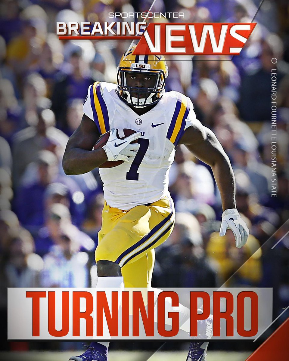 BREAKING: LSU RB Leonard Fournette announces he will enter the 2017 NFL Draft.