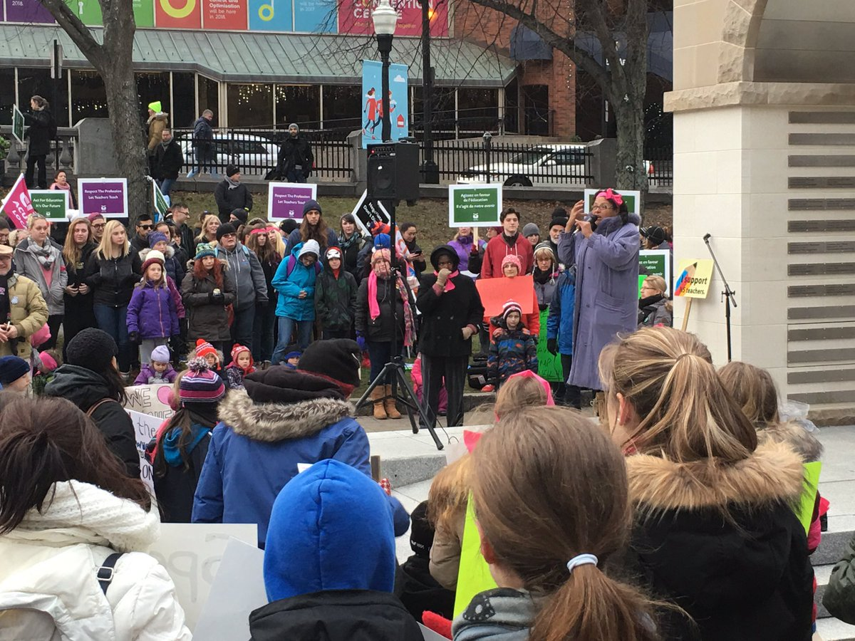 Parade Square in #halifax is filled in support of @NSTeachersUnion! https://t.co/Dfijsaj9QM