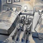 FF15などの4人パーティーでベッドが2つしかない部屋だと川の字で寝る羽目になる?!