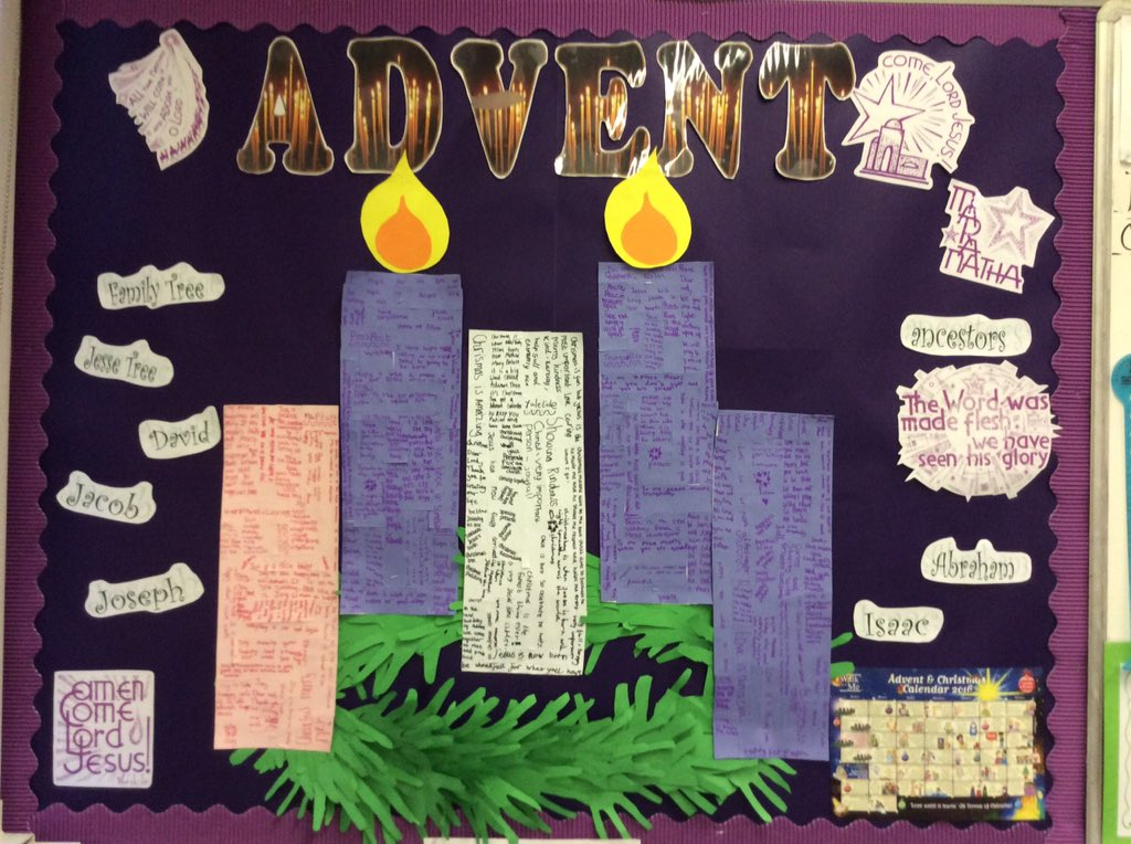 Y4 have lit the second candle on their advent wreath.