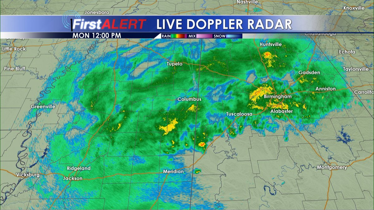 Wcbi Weather On Twitter Midday Radar Check Rain Continues For
