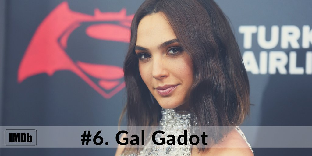 Congratulations, to @GalGadot! Gal holds the #6 spot on the Top 10 Sta...
