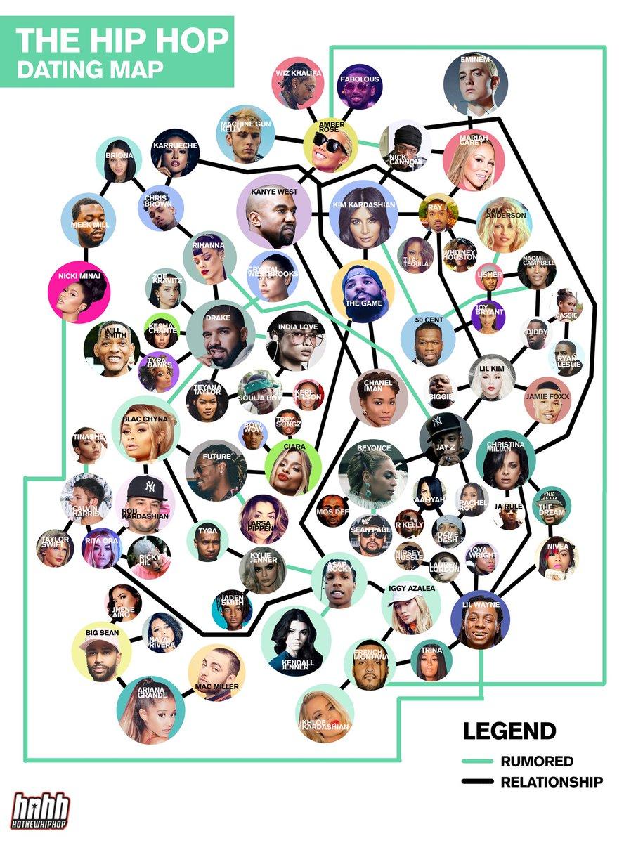 Hip hop dating map