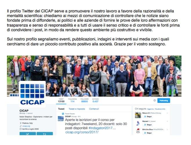Oggi vi chiediamo di aiutarci a far conoscere il @CICAP condividendo questo post. https://t.co/33YSig4mni